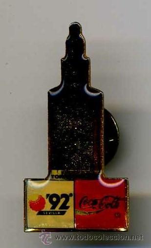 BONITO PIN DE COCA COLA DE LA TORRE DEL ORO (Coleccionismo - Botellas y Bebidas - Coca-Cola y Pepsi)