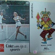 Coleccionismo de Coca-Cola y Pepsi: BARAJA DE CARTAS DE COCA COLA. AÑO 1975. TENIS. PRECINTADA. ESTADOS UNIDOS. . Lote 11406117