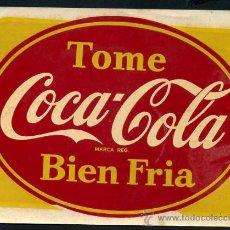 Coleccionismo de Coca-Cola y Pepsi: GRAN ADHESIVO COCA COLA , ORIGINAL, AÑOS 50. Lote 13715419