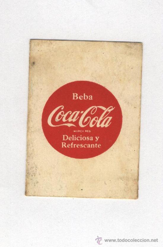 CALENDARIO DE LIGA 1955-56 .1ªDIVISION COCA-COLA (Coleccionismo - Botellas y Bebidas - Coca-Cola y Pepsi)