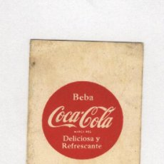Coleccionismo de Coca-Cola y Pepsi: CALENDARIO DE LIGA 1955-56 .1ªDIVISION COCA-COLA. Lote 11607211