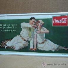 Coleccionismo de Coca-Cola y Pepsi: CHAPA CARTEL COCA-COLA 45X21 CMS COCA COLA COKE. Lote 26786151