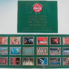 Coleccionismo de Coca-Cola y Pepsi: COCA COLA 1928 - 1996 - COLECCION EXCLUSIVA DE TARJETAS OLIMPICAS - TRADING CARDS - ALBUM COMPLETO. Lote 171340057