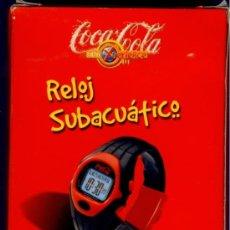 Coleccionismo de Coca-Cola y Pepsi: RELOJ SUMERGIBLE COCA COLA - CON LOGO ILUMINADO - CRONO - ALARMA - SNOOZE - TIEMPO VUELTAS - NUEVO !. Lote 34285453