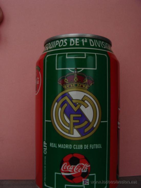 LATA COCA-COLA - REAL MADRID (Coleccionismo - Botellas y Bebidas - Coca-Cola y Pepsi)