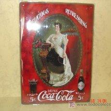 Coleccionismo de Coca-Cola y Pepsi: COCA COLA - CHAPA METALICA - REPRODUCCION -. Lote 15977644