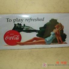 Coleccionismo de Coca-Cola y Pepsi: COCA COLA - CHAPA METALICA - REPRODUCCION -. Lote 15977669