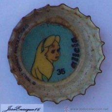 Coleccionismo de Coca-Cola y Pepsi: ALICIA , PEPSI, WALT DISNEY DECADA DEL 70, TAPITA CORONA.. Lote 22651184