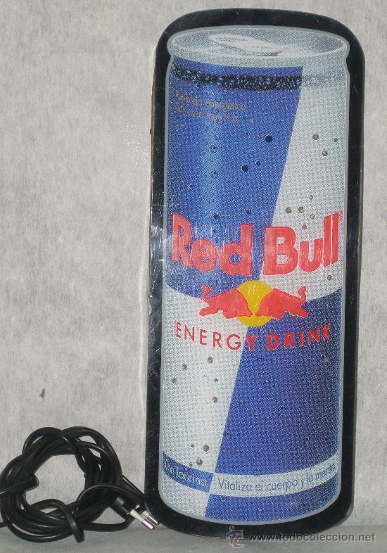 ROTULO LUMINOSO - LETRERO RED BULL ENERGY DRINK - PERFECTO FUNCIONAMIENTO. VER FOTOS (Coleccionismo - Botellas y Bebidas - Coca-Cola y Pepsi)