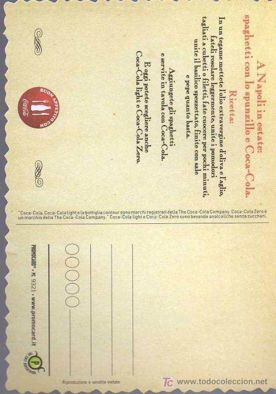 Coleccionismo de Coca-Cola y Pepsi: POSTAL PUBLICITARIA DE COCA COLA EN ITALIANO - Foto 2 - 21721963