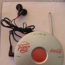 Coleccionismo de Coca-Cola y Pepsi: RADIO AUTOSCAN DE COCA COLA - PIZZA HUT. CON AURICULARES. . Lote 20200016