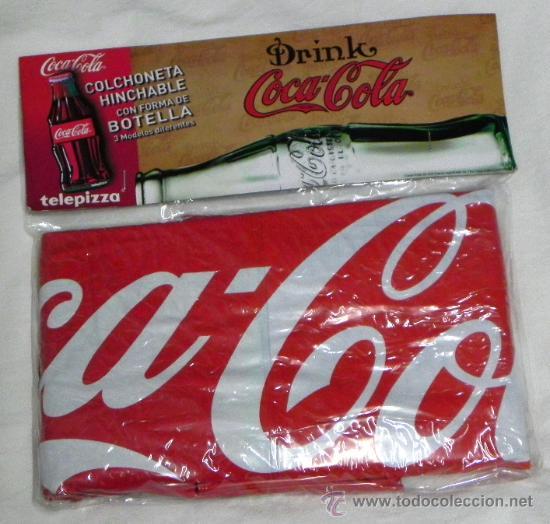 Colchoneta hinchable con forma de botella coca comprar for Piscina de coca