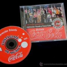 Coleccionismo de Coca-Cola y Pepsi: CD OPERACIÓN TRIUNFO COCA COLA VERANO 2002 MÚSICA OT BISBAL CHENOA BUSTAMANTE ROSA MANU TENORIO. Lote 25962534