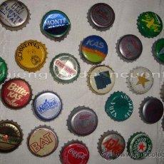 Coleccionismo de Coca-Cola y Pepsi: COLECCIÓN DE 26 CHAPAS DE REFRESCO, COCA COLA, FANTA, CERVEZA... 2 CON JUGADORES DE FUTBOL. Lote 26571647