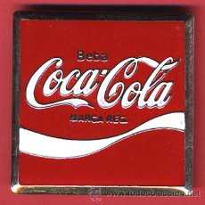Coleccionismo de Coca-Cola y Pepsi: CHAPA BEBA COCA COLA, ORIGINAL, SUPER PIN 5 X 5 CMS.. Lote 26777063