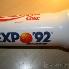 Coleccionismo de Coca-Cola y Pepsi: VASO DE COCA COLA,EXPO 92 DE SEVILLA. MIDE 20 CMS.. Lote 26418775