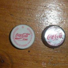 Coleccionismo de Coca-Cola y Pepsi: COCA COLA, 2 TAPONES DE ROSCA.. Lote 25609167