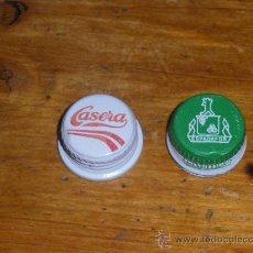 Coleccionismo de Coca-Cola y Pepsi: GASEOSAS LA CASERA Y GASEMESA DE GRANADA. 2 TAPONES DE ROSCA.. Lote 25609249