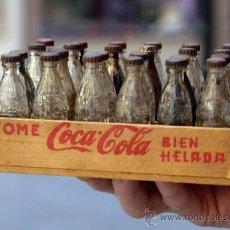 Coleccionismo de Coca-Cola y Pepsi: CAJA, CAJITA MADERA CON 24 BOTELLITAS DE COCA COLA, AÑOS 40-50, ORIGINAL,VER FOTOS, LEER DESCRIPCION. Lote 28950880