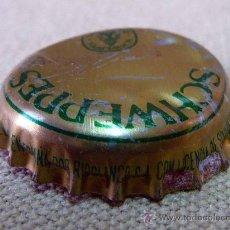 Coleccionismo de Coca-Cola y Pepsi: CHAPA, TAPON, SCHWEPPES, CON CROMO CASERO PARA JUGAR A LAS CHAPAS. Lote 27816843