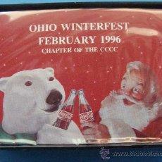 Coleccionismo de Coca-Cola y Pepsi: BARAJA DE CARTAS DE COCA COLA. 1996 - 002. PAPA NOEL Y OSO POLAR. OHIO WINTERFEST TCCCC. . Lote 27930615