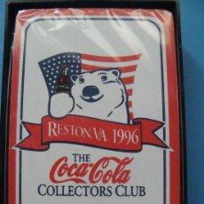 Coleccionismo de Coca-Cola y Pepsi: BARAJA DE CARTAS DE COCA COLA. 1996 - 006. OSO POLAR Y BANDERA ESTADOS UNIDOS. RESTON TCCCC. . Lote 27930625