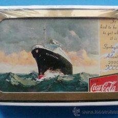 Coleccionismo de Coca-Cola y Pepsi: BARAJA DE CARTAS DE COCA COLA. 2000 - 001. CLÁSICO BARCO TRASATLÁNTICO USS SPRINGTIME. TCCCC. . Lote 27930700