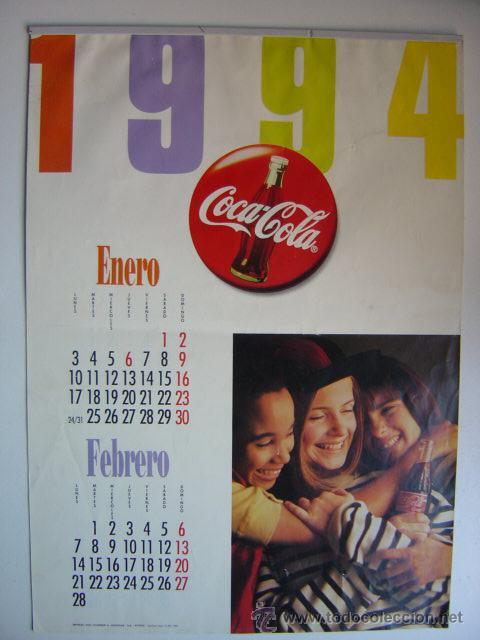 CALENDARIO COCA-COLA - AÑO 1994 (Coleccionismo - Botellas y Bebidas - Coca-Cola y Pepsi)