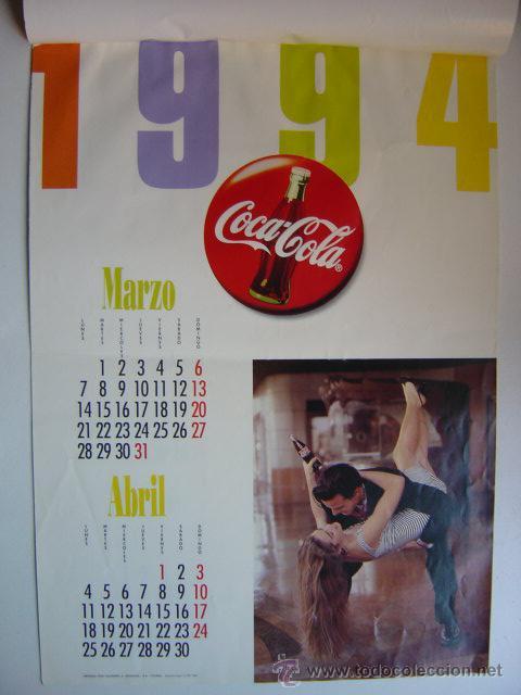 Coleccionismo de Coca-Cola y Pepsi: CALENDARIO COCA-COLA - AÑO 1994 - Foto 2 - 28423885
