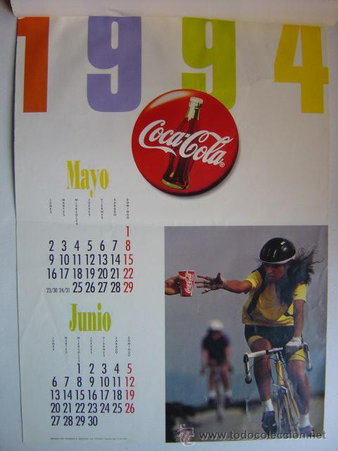 Coleccionismo de Coca-Cola y Pepsi: CALENDARIO COCA-COLA - AÑO 1994 - Foto 3 - 28423885