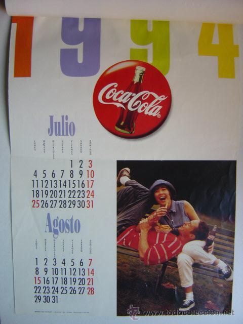 Coleccionismo de Coca-Cola y Pepsi: CALENDARIO COCA-COLA - AÑO 1994 - Foto 4 - 28423885
