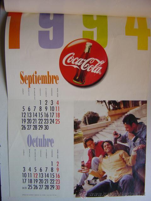Coleccionismo de Coca-Cola y Pepsi: CALENDARIO COCA-COLA - AÑO 1994 - Foto 5 - 28423885