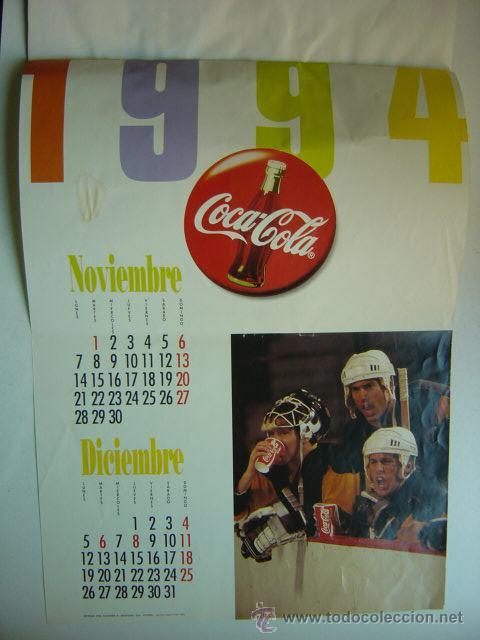 Coleccionismo de Coca-Cola y Pepsi: CALENDARIO COCA-COLA - AÑO 1994 - Foto 6 - 28423885