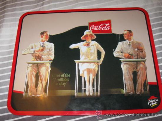 QUEX PUBLICIDAD COCA COLA - CARTEL TAPETE METALICO DE COCA COLA (Coleccionismo - Botellas y Bebidas - Coca-Cola y Pepsi)