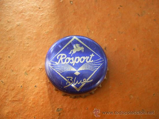 1 CHAPA AGUA ROSPORT. LUXEMBURGO. DESCATALOGADA.----LOTE N. 212------ (Coleccionismo - Botellas y Bebidas - Coca-Cola y Pepsi)