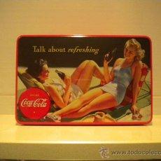 Coleccionismo de Coca-Cola y Pepsi: CAJA DE LATA COCA COLA. Lote 29777016