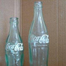 Coleccionismo de Coca-Cola y Pepsi: 2 X BOTELLA S CRISTAL - COCA-COLA - 20 CMS 33 CL - 24 CMS 50 CL - COCACOLA COKE. Lote 30501731