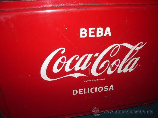 ANTIGUA NEVERA DE HIELO. (Coleccionismo - Botellas y Bebidas - Coca-Cola y Pepsi)