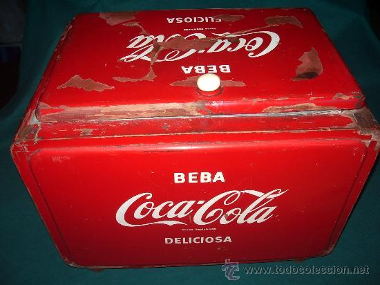 Coleccionismo de Coca-Cola y Pepsi: Antigua NEVERA de HIELO. - Foto 2 - 30522889