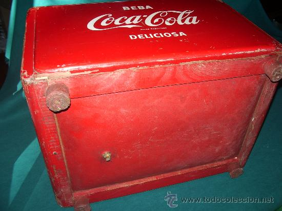 Coleccionismo de Coca-Cola y Pepsi: Antigua NEVERA de HIELO. - Foto 5 - 30522889