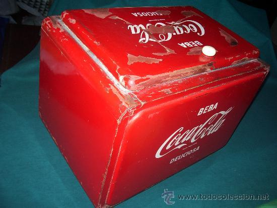 Coleccionismo de Coca-Cola y Pepsi: Antigua NEVERA de HIELO. - Foto 7 - 30522889