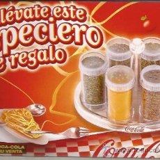 Coleccionismo de Coca-Cola y Pepsi: COCA COLA-ESPECIERO-A ESTRENAR-BANDEJA CON SEIS BOTES PARA ESPECIAS. Lote 30692718