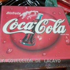 Coleccionismo de Coca-Cola y Pepsi: SERVILLETERO COCA-COLA DISFRUTA COCA-COLA. Lote 32135446