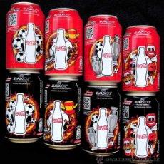 Coleccionismo de Coca-Cola y Pepsi: COCA COLA. COLECCION COMPLETA EDICIÓN ESPECIAL EUROCOPA 2012. ZERO Y NORMAL. 8 LATAS.. Lote 32358198
