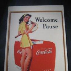 Coleccionismo de Coca-Cola y Pepsi: CARTEL PUBLICITARIO DE COCA - COLA. Lote 33308512