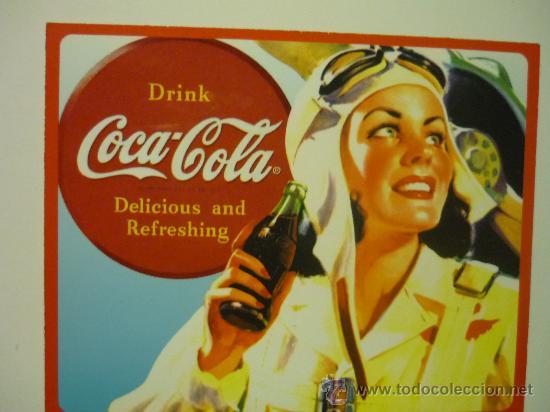IMAN COCA COLA 10 X 8 (Coleccionismo - Botellas y Bebidas - Coca-Cola y Pepsi)