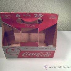 Coleccionismo de Coca-Cola y Pepsi: CAJA DE CARTÓN DE SEIS BOTELLAS DE COCA COLA - PLEGABLE -VER FOTOS. Lote 33477273