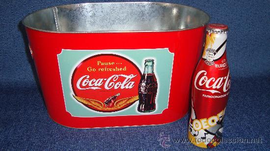 BOTELLIN COCA-COLA UEFA EURO 2012 POLAND - UKRAINE EDICION LIMITADA + CUBITERA NUEVA COCA COLA (Coleccionismo - Botellas y Bebidas - Coca-Cola y Pepsi)