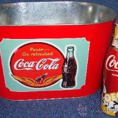 Coleccionismo de Coca-Cola y Pepsi: BOTELLIN COCA-COLA UEFA EURO 2012 POLAND - UKRAINE EDICION LIMITADA + CUBITERA NUEVA COCA COLA. Lote 33673929
