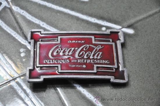 PRECIOSA HEBILLA DE CINTURÓN DE COCA-COLA, COCA COLA, COCACOLA (Coleccionismo - Botellas y Bebidas - Coca-Cola y Pepsi)